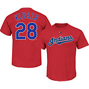 Majestic Youth Cleveland Indians Corey Kluber #28 Red T-Shirt