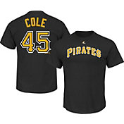Majestic Youth Pittsburgh Pirates Gerrit Cole #45 Black T-Shirt