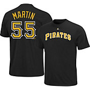 Majestic Youth Pittsburgh Pirates Russell Martin #55 Black T-Shirt