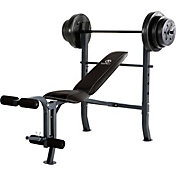 Marcy Mid-Width Weight Bench and 100 lbs. Weight Set