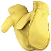 North American Trading Men's Lined Deerskin Chopper Mittens