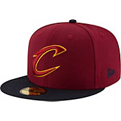 New Era Men's Cleveland Cavaliers 59Fifty Burgundy/Black Fitted Hat