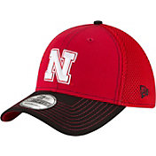 New Era Men's Nebraska Cornhuskers Team Front Scarlet/Black Neo 39Thirty Hat