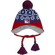 New Era Men's New York Rangers Stay Toasty Blue/Red Peruvian Knit Hat