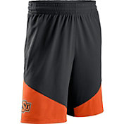 Nike Men's Oklahoma State Cowboys Black/Orange New Classics ELITE Basketball Shorts