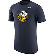 Nike Men's Michigan Wolverines Heathered Blue Vault Tri-Blend T-Shirt