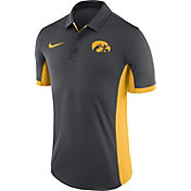 Nike Men's Iowa Hawkeyes Anthracite Evergreen Performance Polo