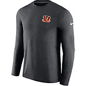 Nike Men's Cincinnati Bengals Sideline 2017 Coaches Charcoal Long Sleeve Shirt