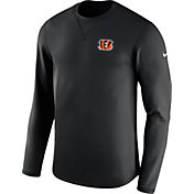 Nike Men's Cincinnati Bengals Sideline 2017 Modern Crew Black Long Sleeve Top