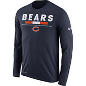 Nike Men's Chicago Bears Legend Staff Navy Long Sleeve Performance Shirt