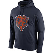Nike Men's Chicago Bears Performance Circuit Logo Essential Navy Hoodie