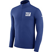 Nike Men's New York Giants Element Blue Quarter-Zip Top