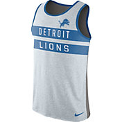 Nike Men's Detroit Lions Stripe Tri-Blend Grey Tank