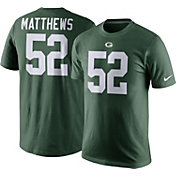 Nike Men's Green Bay Packers Clay Matthews #52 Pride Green T-Shirt
