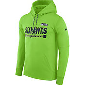 Nike Men's Seattle Seahawks Sideline 2017 Therma-FIT Green Performance Hoodie