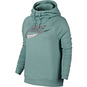 Nike Women's Sportswear Rally Metal Funnel Neck Hoodie