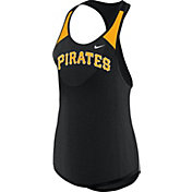 Nike Women's Pittsburgh Pirates Dri-FIT Black Wordmark Tank Top