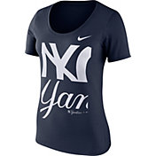 Nike Women's New York Yankees Navy Scoop Neck T-Shirt