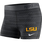 Nike Women's LSU Tigers Pro Black Shorts