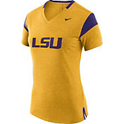 Nike Women's LSU Tigers Gold/Purple Fan V-Neck T-Shirt