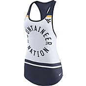 Nike Women's West Virginia Mountaineers White/Blue Circle Dri-Blend Tank Top
