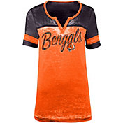 5th & Ocean Women's Cincinnati Bengals Burnout Orange T-Shirt