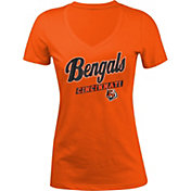 New Era Women's Cincinnati Bengals Glitter Orange T-Shirt
