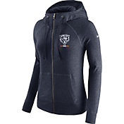 Nike Women's Chicago Bears Gym Vintage Full-Zip Navy Hoodie