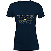 5th & Ocean Women's Los Angeles Chargers Rhinestone Navy T-Shirt