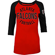 5th & Ocean Women's Atlanta Falcons Red Raglan Shirt