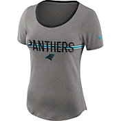 Nike Women's Carolina Panthers Strike Slub Grey T-Shirt