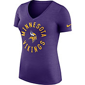 Nike Women's Minnesota Vikings Dri-FIT Touch Purple Performance T-Shirt