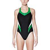 Nike Women's Victory Color Block Power Back Tank Swimsuit