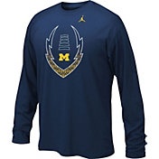 Jordan Youth Michigan Wolverines Blue Football Icon Legend Long Sleeve Shirt