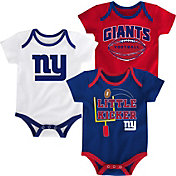 NFL Team Apparel Infant New York Giants 3-Pack Creeper Set