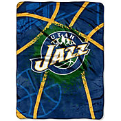 Northwest Utah Jazz Shadow Play Raschel Throw Blanket