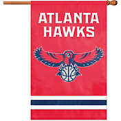 Party Animal Atlanta Hawks Applique Banner Flag