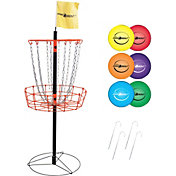 Park & Sun Sports Portable Disc Golf Basket and Disc Set