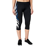 Reebok Women's Geometric Graphic Compression Capris