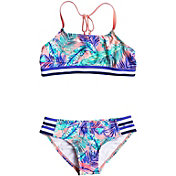 Roxy Girls' Retro Summer Halter Two-Piece Bikini Set