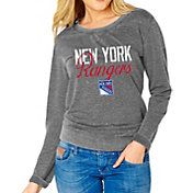 Soft As A Grape Women's New York Rangers Grey Fleece Sweatshirt