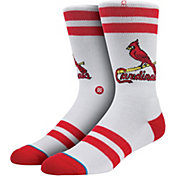 Stance St. Louis Cardinals White Team-Colored Socks