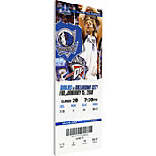 That's My Ticket Dallas Mavericks Dirk Nowitzki Canvas Ticket