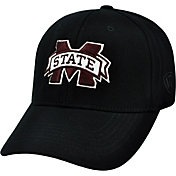 Top of the World Men's Mississippi State Bulldogs Black Premium Collection M-Fit Hat