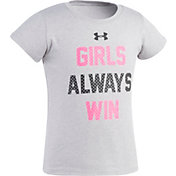 Under Armour Little Girls' Girls Always Win T-Shirt