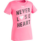 Under Armour Toddler Girls' Never Lose Heart T-Shirt