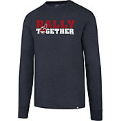 '47 Men's Cleveland Indians Club 'Rally Together' Navy Long Sleeve Shirt