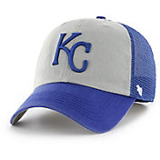 '47 Men's Kansas City Royals Ravine Closer Grey/Royal Fitted Hat