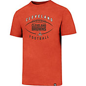 '47 Men's Cleveland Browns Club Football Orange T-Shirt