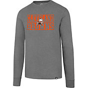 '47 Men's Cleveland Browns Club Grey Long Sleeve Shirt